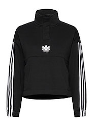 Adicolor 3D Trefoil Fleece Half-Zip Sweatshirt W - BLACK