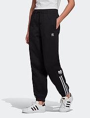 adidas Originals - Adicolor 3D Trefoil Fleece Pants W - bukser - black - 0