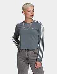 adidas Originals - Adicolor Classics Long Sleeve T-Shirt W - langærmede toppe - bluoxi - 0