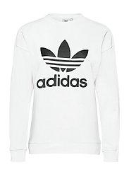 Trefoil Crew Sweatshirt W - WHITE
