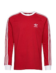 Adicolor Classics 3-Stripes Long Sleeve T-Shirt - SCARLE