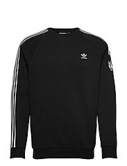 Adicolor 3D Trefoil 3-Stripes Crew Sweatshirt - BLACK