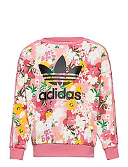 HER Studio London Floral Crew Sweatshirt - TRAPNK/MULTCO/BLACK