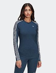 adidas Originals - Fakten Long Sleeve T-Shirt W - topjes met lange mouwen - crname/crenav/white - 0