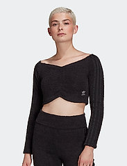 adidas Originals - Crop Top W - navel shirts - black - 0
