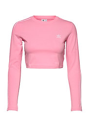 Crop Long Sleeve T-Shirt W - LTPINK