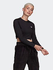 adidas Originals - Crop Long Sleeve T-Shirt W - topjes met lange mouwen - black - 0