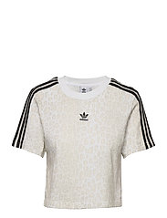 Cropped T-Shirt W - MULTCO/WHITE/TALC