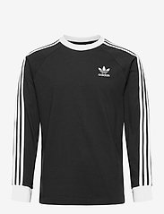 adidas Originals - 3-STRIPES LS T - langarmshirts - black - 1