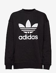 adidas Originals - Trefoil Crew Sweatshirt W - sweatshirts - black/white - 1