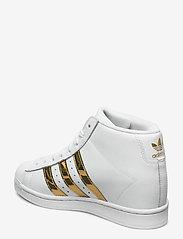 adidas Originals - SUPERSTAR UP W - hoge sneakers - ftwwht/goldmt/cblack - 2
