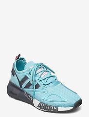adidas Originals - ZX 2K BOOST W - lage sneakers - hazsky/grefou/ftwwht - 0