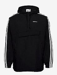 adidas Originals - CLASSICS ANORAK - anoraks - black/white - 0