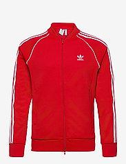adidas Originals - Adicolor Classics Primeblue SST Track Jacket - basic sweatshirts - scarle/white - 1