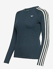 adidas Originals - Fakten Long Sleeve T-Shirt W - topjes met lange mouwen - crname/crenav/white - 3