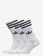 adidas Originals - Crew Socks 3 Pairs - tavalliset sukat - white/black - 0