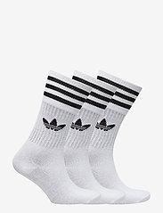adidas Originals - Crew Socks 3 Pairs - tavalliset sukat - white/black - 1