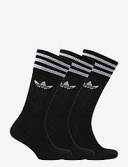 adidas Originals - Crew Socks 3 Pairs - tavalliset sukat - black/white - 1