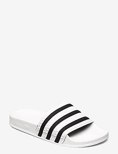 Adilette Slides - sneaker - white/cblack/white