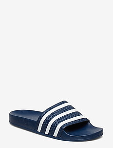ADILETTE - pool sliders - adiblu/white/adiblu