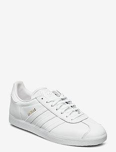 GAZELLE - lave sneakers - ftwwht/ftwwht/goldmt