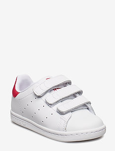 STAN SMITH CF I - low tops - ftwwht/ftwwht/bopink