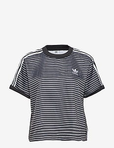 3 STRIPES TEE - BLACK/WHITE