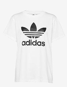 BOYFRIEND TEE - logo t-shirts - white