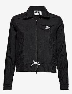 RUFFLE TRACKTOP - athleisure jackets - black
