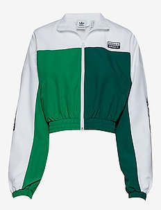 TRACK TOP - WHITE/BGREEN