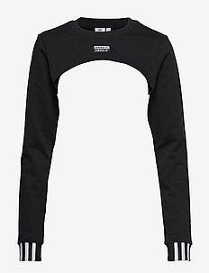 SHRUG SWEAT - BLACK