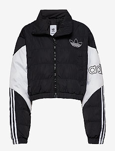 CROPPED PUFFER - BLACK/WHITE