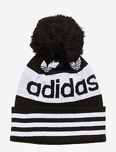 AC JACQUARD POM - czapka - black