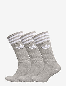 SOLID CREW SOCK - MGREYH/WHITE