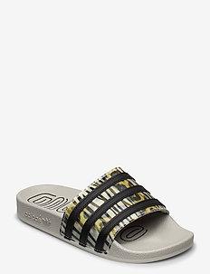 ADILETTE W - sneakers - cblack/cblack/metgry