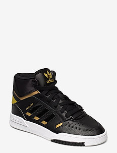 DROP STEP W - sneakersy wysokie - cblack/goldmt/ftwwht