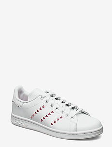 STAN SMITH J - sneakers - ftwwht/ftwwht/lusred
