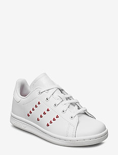 STAN SMITH C - sneakers - ftwwht/ftwwht/lusred