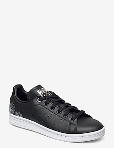 STAN SMITH W - låga sneakers - cblack/cblack/silvmt