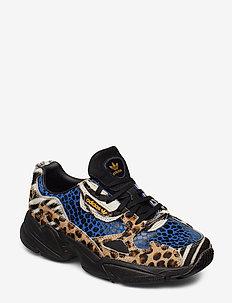 FALCON W - chunky sneakers - owhite/cblack/brigol