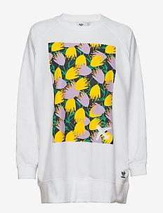 GRAPHIC SWEATER - sweatshirts - white
