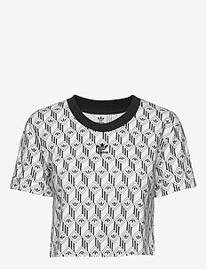 CROPPED T-SHIRT - BLACK/WHITE