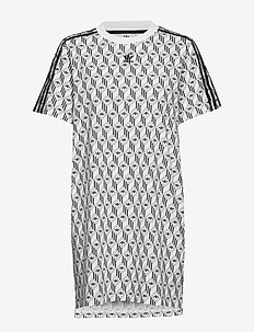 TEE DRESS - WHITE/BLACK