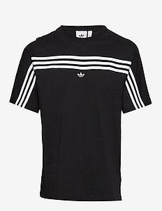 3STRIPE SS TEE - black/white
