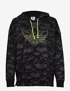 AOP HOODIE - hoodies - black