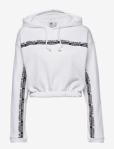 CROPPED HOODIE - crop tops - white