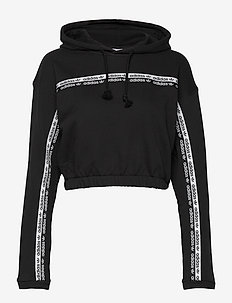 CROPPED HOODIE - crop tops - black