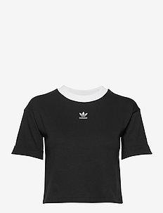 CROP TOP - topy sportowe - black/white