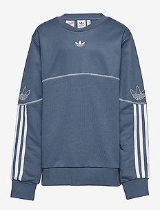 OUTLINE CREW - sweatshirts - tecink/white