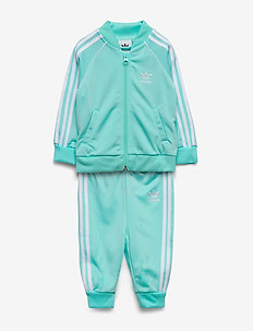 SUPERSTAR SUIT - dresy - claqua/white